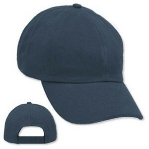 Blank - Navy Unstructured Brushed Cotton Velcro Cap- Blank
